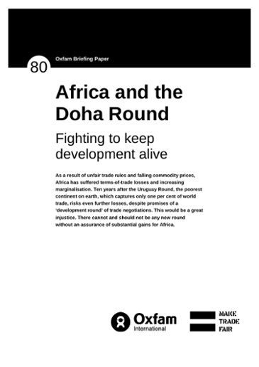 Africa and the Doha Round: Fighting to keep development alive