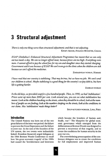 3 Structural Adjustment