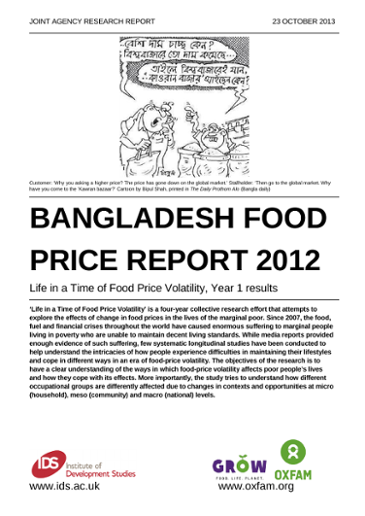 Bangladesh Food Price Volatility Report 2012