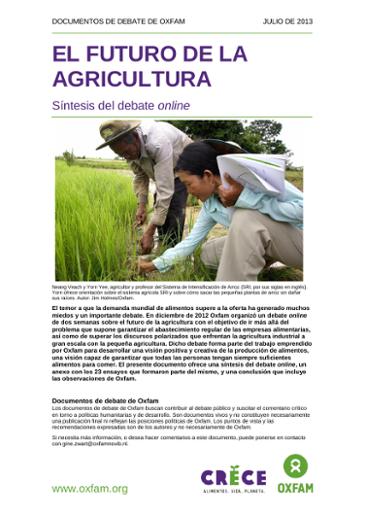 El Futuro De La Agricultura Síntesis Del Debate Online