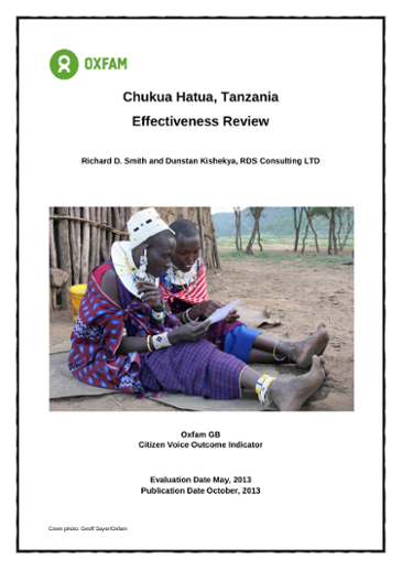 Chukua Hatua, Tanzania - Effectiveness Review - Full Report