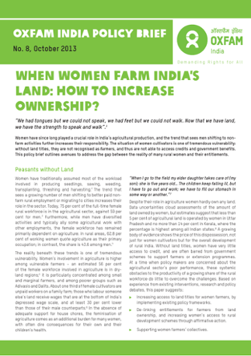 When Women Farm India's Land: How to increase ownership?