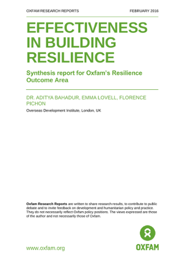 Effectiveness in Building Resilience: Synthesis report for