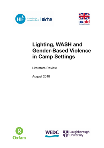 Lighting, WASH, and Gender-Based Violence in Camp Settings